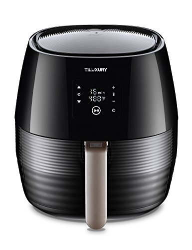 Air Fryer with Digital LED Touch Screen Technology , Timer and Temperature Control ,Tiluxury Black ,Rapid Air Technology, Oil Free Enviromantal and Healthy For Sale