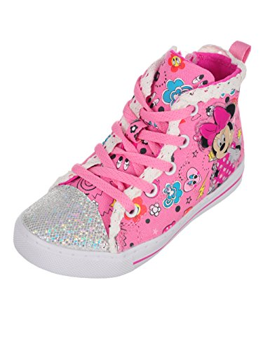 Disney Minnie Mouse Girls' Light-up Hi-Top Sneakers - Pink/Multi, 8 Toddler for $<!--$29.99-->