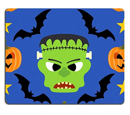 Mouse Pad Natural Rubber Mousepad Image ID: 22666344 Halloween Background Seamless with Frankenstein -