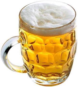 CoK Blumian Deals -Jarras de Cerveza, Pinta Británica- Pack de 4- Jarra de Cerveza, Jarra de Cristal Medio litro- Jarra Cerveza Original