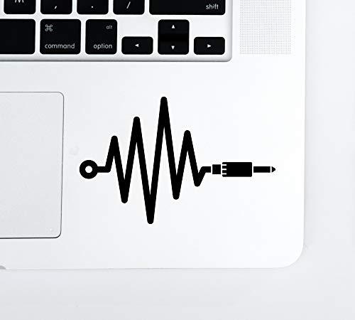 Audio Engineer Waveform Laptop Trackpad Keyboard Tablet Vinyl Decal Sticker