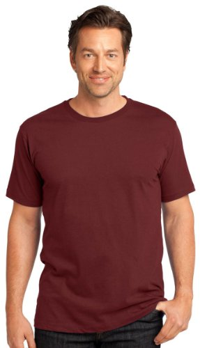 Perfect Weight Crew Neck Tee - District Threads Men's Perfect Weight Crewneck T-Shirt_Sangria_XXXX-Large