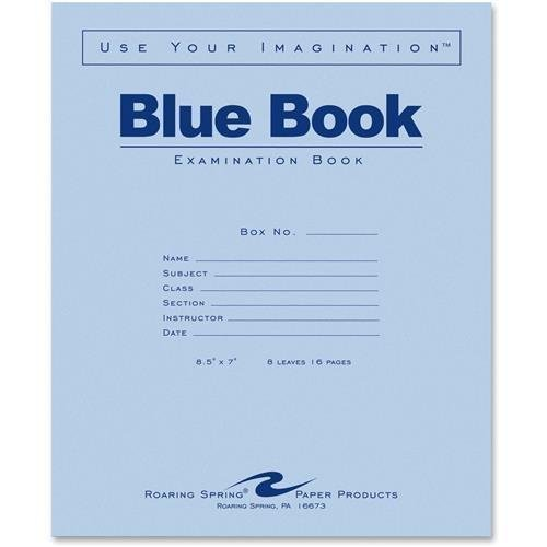 ROA77512 - Roaring Spring Blue Exam/Testing Booklet by Roaring Spring