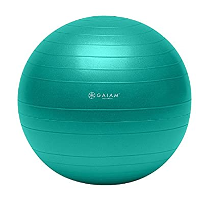 Gaiam Total Body Balance Ball Kit - Includes Anti-Burst Stability Exercise Yoga Ball, Air Pump, & Workout DVD from Gaiam