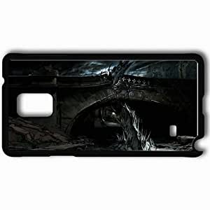 Personalized Samsung Note 4 Cell phone Case/Cover Skin Alone In The Dark Black