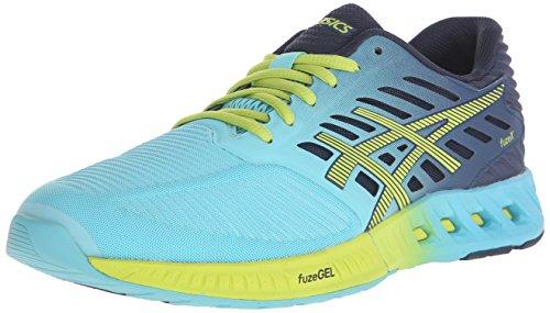 ASICS Women's FuzeX Running Shoe, Turquoise/Sharp Green/Ink, 9.5 M US by ASICS