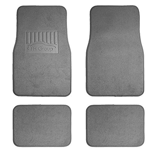FH Group F14402 Premium Carpet Floor Mats with Heel Pad, Gray Color- Fit Most Car, Truck, SUV, or Van