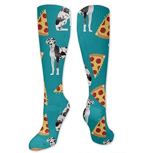 (Great Dane Pizza Dress Socks Funny Stockings Crazy Socks Casual Cotton Socks)