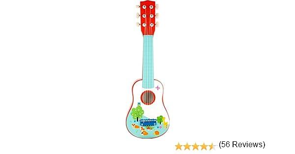 Small Foot 10725 niños de Guitarra de Madera Colorido, Apto como ...