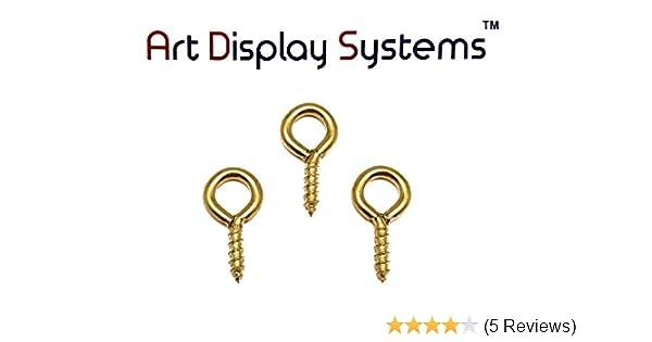"7//16/"" Long ADS 217-1//2 BP Mini Screw Eye 50 Pack by ART DISPLAY SYSTEMS"