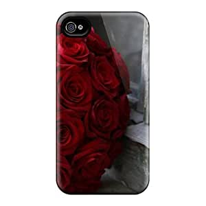 Awesome Case Cover/Case For Sumsung Galaxy S4 I9500 Cover Defender Case Cover(red Roses Wedding Bouquet)