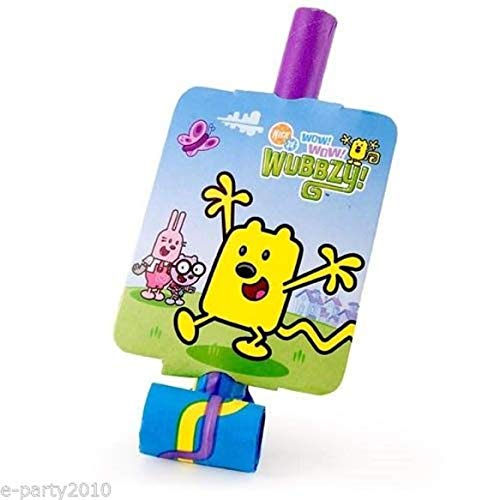 WOW! WOW! WUBBZY BLOWOUTS (8) ~ Birthday Party Supplies Paper Favors Nick -