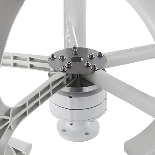 Happybuy Wind Turbine 400W DC 12V Wind Turbine Generator Kit 5 Blades Vertical Wind Power Turbine Generato White Lantern Style with Charge Controller for Power Supplementation by Happybuy (Image #3)