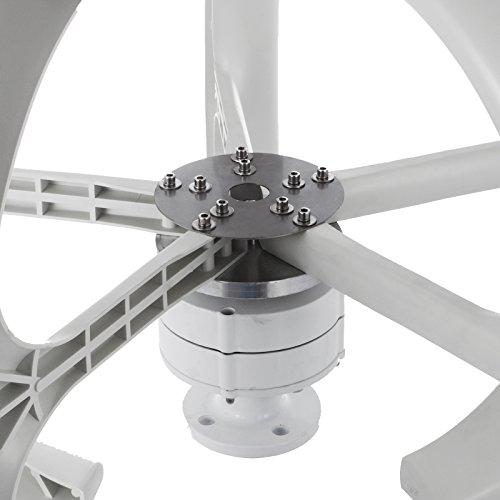 Happybuy Aerogenerador 400W 24V Generador de turbina eólica Linterna blanca Generador de viento vertical 5 hojas Kit de turbina eólica con controlador sin poste (400W 24V, blanco)
