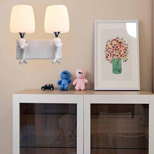 Applique Art De Lampe Moderne Décorative Led Mur Dauphin Gaojuan mONw08nv
