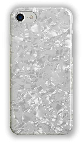 Recover Shimmer Glitter iPhone 8 Case/iPhone 7 Case/iPhone 6 Case. Pearlescent Sparkle Translucent Shell Case for Girls Women. Soft Rubber Silicone Protective Cover for iPhone 8/7/6. (White Shimmer) ()