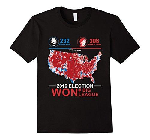 Mens Donald Trump 2016 Election Commemorative T Shirt #Big League XL Black