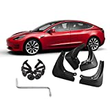Womdee Fender Flares for Tesla Model 3, 4 Packs Wide Body Wheel Mudguard, Full Protection Mud Flaps All in One Splash Guard Kit for Tesla Model 3 Accessories