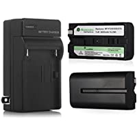 Powerextra 2 Pack Replacement Sony NP-F550 Battery With Charger For Sony NP-F330, NP-F530, NP-F570 and Sony CCD-RV100, CCD-RV200, SC5, SC9, TR1, TR940, TR917 Camera CN-160, CN-216 LED Video Light