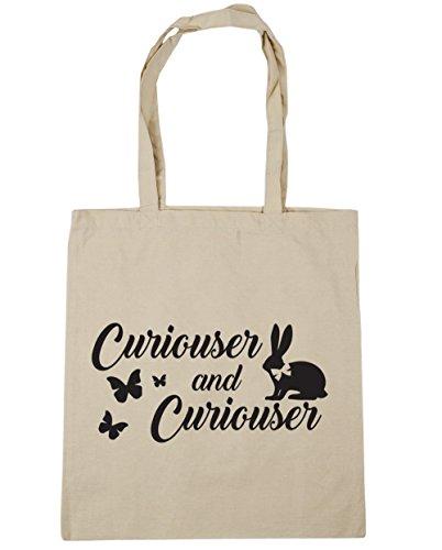 HippoWarehouse más curioso y más curioso Tote Compras Bolsa de playa 42cm x38cm, 10litros Natural