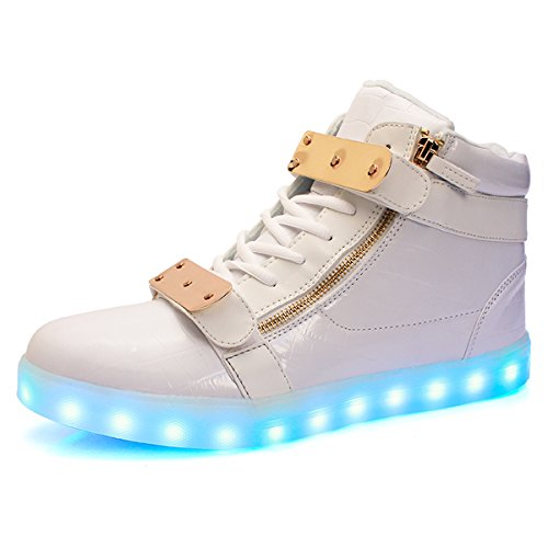 Adult High Top Sneakers (VENSHINE Womens & Mens Light Up Shoes High Top USB Charging LED Sneakers)