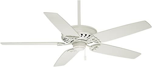 Casablanca Indoor Ceiling Fan, with Pull Chain Control – Concentra 54 inch, White, 54019