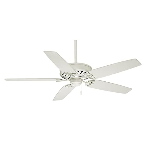 Casablanca 54019 Concentra 54 Inch 5 Blade Ceiling Fan, Snow White With  Matte
