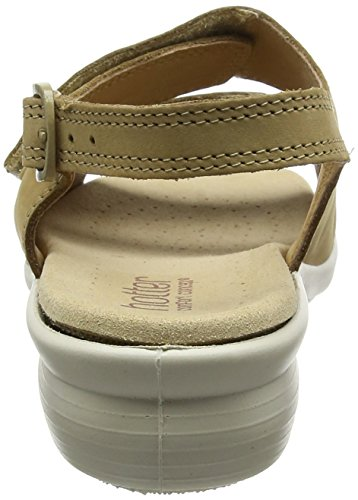 Toe Sand Sandals Hotter Easy Open Beige Women's qOPwwg4nH
