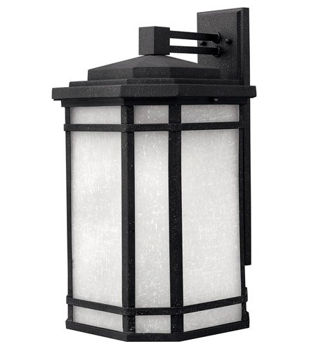Hinkley 1275VK-GU24 Craftsman/Mission One Light Wall Mount from Cherry Creek collection in Blackfinish, - Black Cherry Outdoor Wall Mount