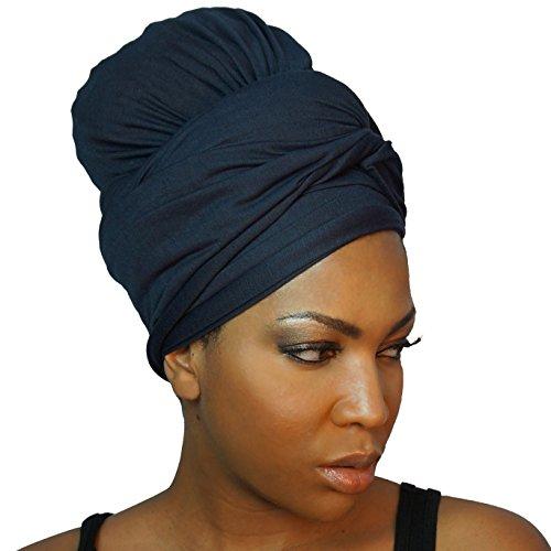 The Urban Turbanista Stretch Jersey Knit Head Wrap - Long Headwrap Scarf Tie by (70