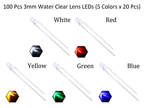 EDGELEC-3mm-LED-Diodes-Water-Clear-Round-Top-29mm-Long-Feet-100pcs-Resistors-For-DC-6-13V-Included-Ultra-Bright-Bulb-Lamps-Light-Emitting-Diode