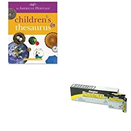 KITEVEEN91HOU1472086 - Value Kit - HOUGHTON MIFFLIN COMPANY American Heritage Children\'s Thesaurus (HOU1472086) and Energizer Industrial Alkaline Batteries (EVEEN91)