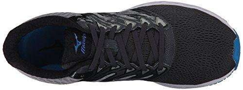 Mizuno Running Mens Wave Shadow Running-shoes Ferro Cancello / Argento / Blu Gioiello
