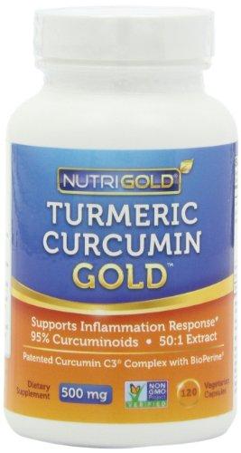 Nutrigold curcuma curcumine Gold (Caractéristiques complexe C3 w / BioPerine), 500 mg, 240 légumes. capsules