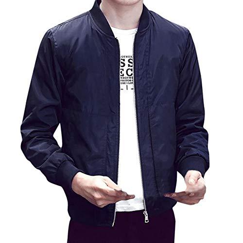 Overcoat K9 (iHPH7 Men Winter Warm Jacket Overcoat Outwear Slim Long Sleeve Zipper Tops Blouse)
