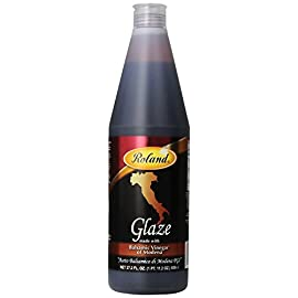 Roland Balsamic Glaze From Italy, 27.2 Ounce Bottle 2 Made from fine quality balsamic vinegar from Modena, it is slowly reduced to a nicely balanced thickened sauce Consistent in flavor, texture, and color, this glaze is a time saver for all chefs Use as a garnish, for entrees, and to create attractive plate designs