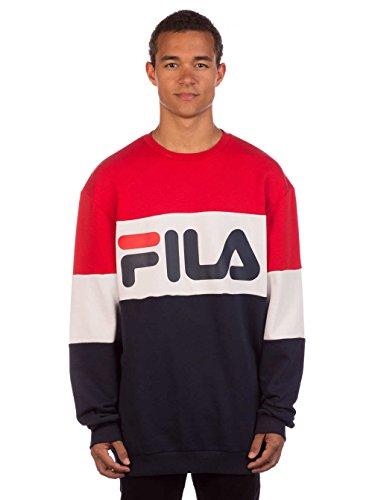 Straight shirt Crew Blocked Fila Sweat Sweat vnU8aaF