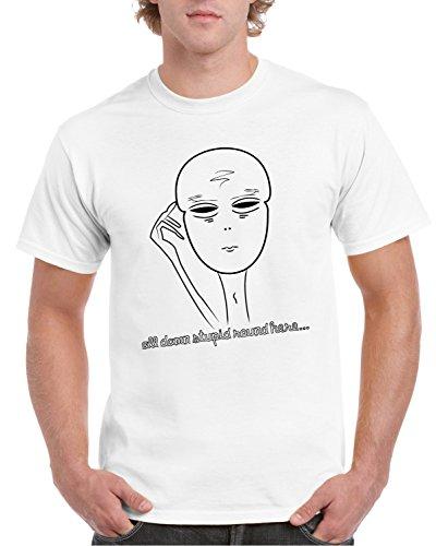 5xl blanco Designer Camiseta estampado de Say Cool S All con hombre 2store24 Stupid P7xwpSZZ