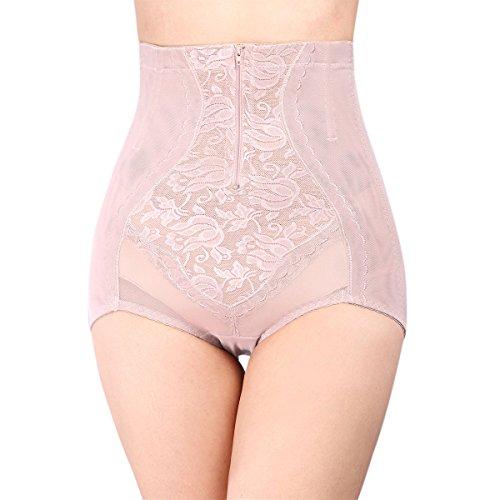 Defitshape Women's Tummy Control Shaper Panty Waist Cincher Girdle Zipper Closure Shapewear Nude (Zipper Panty Girdle)