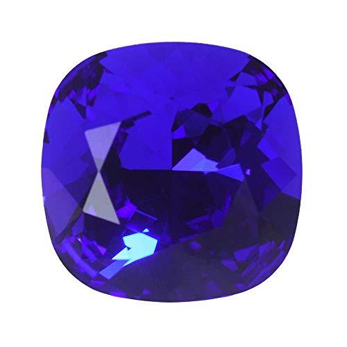 - Swarovski Crystal, 4470 Cushion Fancy Stone 12mm, 1 Piece, Majestic Blue F