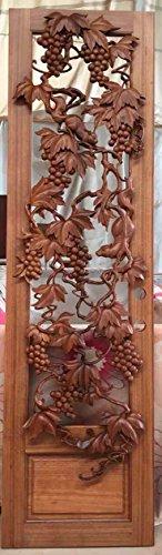 Beautiful Hand Carved Wood Wine Door 36