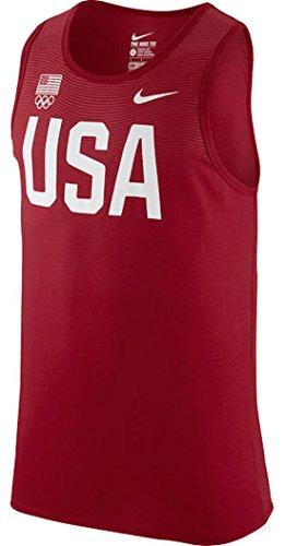 Team USA Nike Flowmotion Logo Dri-FIT Tri-Blend Tank Top (Red, X-Large)