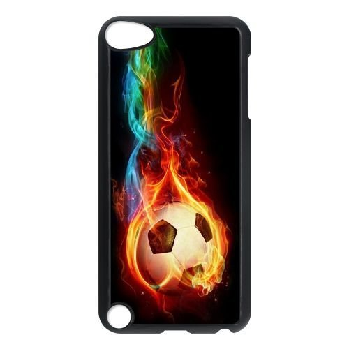 (Custom iPod Touch 5 Case, Zyoux DIY New Fashion iPod Touch 5 Cover Case - Soccer Ball)