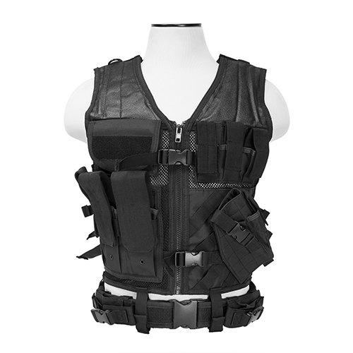 VISM by NcStar Tactical Vest (CTV2916B), Black, adjustable small/medium -