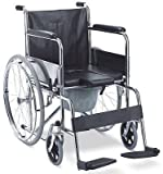 MedMobile® All-In-One Shower Commode Transport Wheelchair With Opening Padded Commode Seat