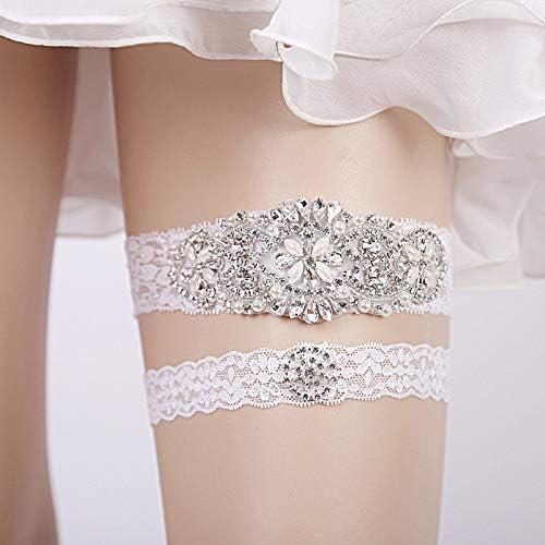 NEW WEDDING BRIDAL GARTER LINGERIE IVORY SOMETHING BLUE BRIDE LACE PEARL 4905