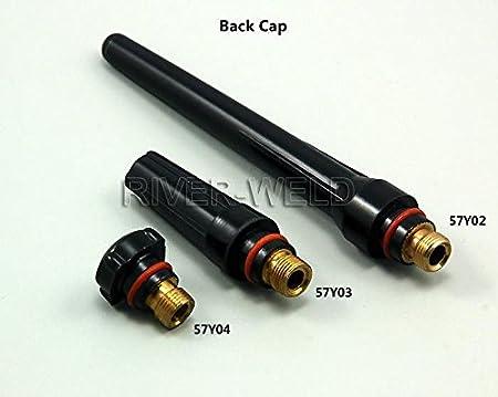 TIG Gas Lens KIT, Tapa trasera Coronilla Cuerpo Ajuste TIG soldadura antorcha SR WP17 18 26,37pcs: Amazon.es: Bricolaje y herramientas