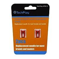 TechPlay pack de 2, aguja roby para giradiscos