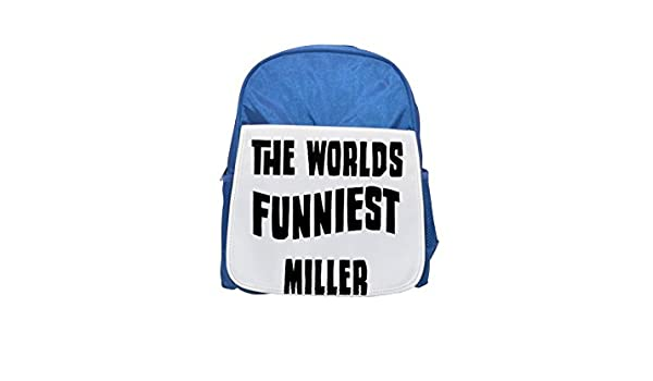 The World s funniest Miller Printed Kid s Blue Backpack, Cute de mochilas, Cute Small de mochilas, Cute Black Backpack, Cool Black Backpack, ...