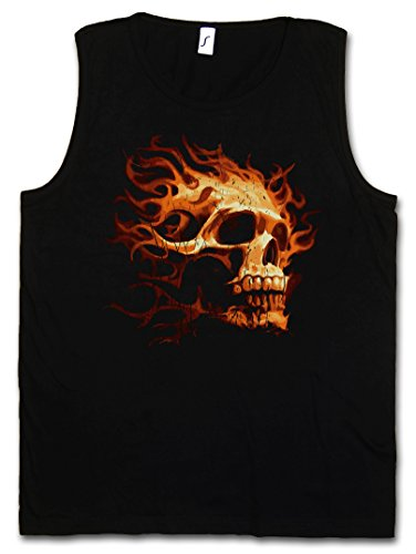 BURNING SKULL I HERREN TANK TOP